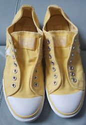 Converse One Star Womens 11 Yellow Canvas Low Tops Shoes Slip On Sneakers $25.00