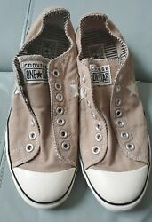 Converse One Star Womens 11 Taupe Brown Canvas Low Tops Shoes Slip On Sneakers $25.00