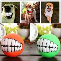 1pc Rubber Dog Toys Squeaky Cleaning Tooth Dog Chew Toy Small Puppy Toys Ball Bi $6.50