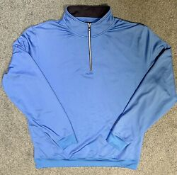 FOOTJOY Royal Blue Pullover Navy Collar 1 4 ZIP XL $19.99
