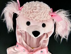 Pink Poodle Costume Baby Girls 6 9 Months Hooded Vest and Shoe Cover Polyester $24.98