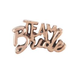 """Authentic Origami Owl ROSE GOLD """"TEAM BRIDE"""" Floating WEDDING PARTY Charm $3.99"""