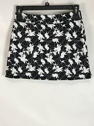NWT Tranquility Womens Skirt Size Small Black White Floral Polyester Blend New $22.04