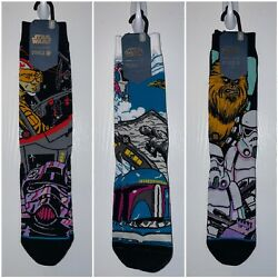 MEN'S STANCE STAR WARS CREW SOCKS SIZE LARGE 9 12 3 Pair Lot Brand New Mando $33.99