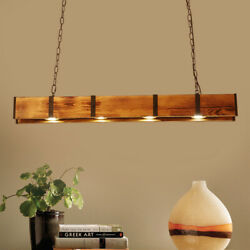 Retro Wood Industrial Pendant Light Hanging Ceiling Lamp Large Farmhouse Light $159.06