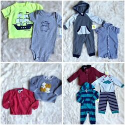 Boys 9 Month Clothes Lot Infant Baby Boys Sweaters Coat Hoodies Sets $35.00