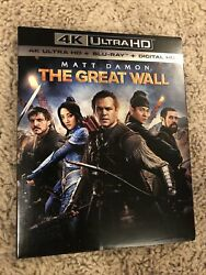The Great Wall 4K UHD Blu ray Digital Copy Sheet 2017 w Excellent Slipcover $19.99