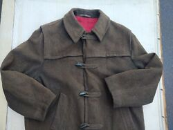 Vintage wool Loden Coat made in West Germany Olive Green Sz 42 $60.00