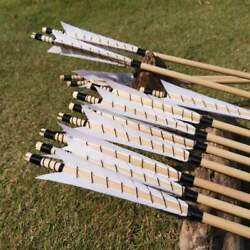 12 PK Traditional Medieval Style Archery Wooden Arrows English Longbow Arrows $43.99