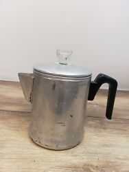 Vintage Century Aluminum Ware Coffee Percolator Camping Hiking Made In USA 5 Cup $12.99