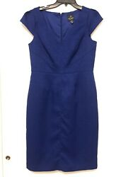 ADRIANNA PAPELL Blue Cocktail Dress Size 8 $21.50
