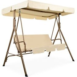 2 Person Outdoor Large Convertible Canopy Swing Glider Lounge Chair $180.00