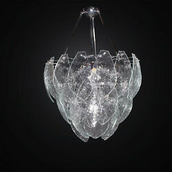 Chandelier Contemporary With 36 Glass Murano Clear 6 Lights Bga 3020 36v $1535.55