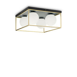 Ceiling Vintage Gold And Black 4 Lights Ideal Lux Ingot pl4 $468.58