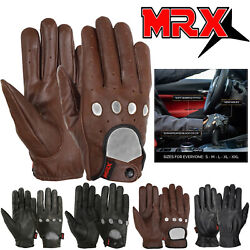 MRX Mens Classic Driving Gloves Soft Genuine Real Cowhide Leather Full Finger $12.99