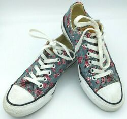 CONVERSE Floral Denim Leather Label All Star Sneaker Tennis women#x27;s size 7 $36.90
