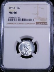 1943 P Lincoln Steel Cent NGC MS66 Brilliant with Super Luster PQ #GC575 $27.99