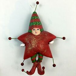 Department 56 Christmas Krinkles Red Star Boy Ornament 2001 Patience Brewster $29.95