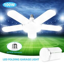 150W 30000LM Deformable LED Garage Light Bright Shop Ceiling Lights Fixture Bulb $15.44