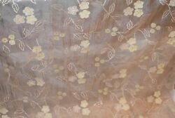 GORGEOUS SILK ORGANZA NOVELTY HIGH END SILK SHEERS $22.95