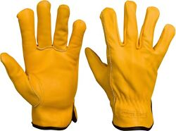 Lined Leather Gloves For Work and Play Soft Top Grain Cowhide Sherpa Lined $16.99