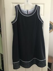 Catherines 22W Cocktail Black Sleeveless Dress Lace Zipper $18.00