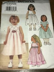 Butterick 3752 TODDLER FANCY PARTY DRESS Sewing Pattern UNCUT Sizes 1 2 3 4 $8.99