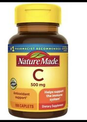 NATURE MADE VITAMIN C 500 MG Immune System Support Lot Of 2 100 Caplets 4 2024 $12.00