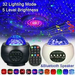 LED Galaxy Starry Sky Night Light Projector Ocean Star Party Speaker Lamp Remote $31.99