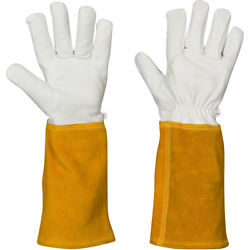 Rose Pruning Gloves Leather Gardening Glove with Kevlar Lining mens womens $21.99