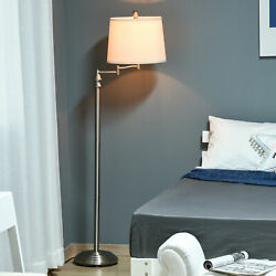 HOMCOM Floor Lamp with Steel Round Base and Flexible Upper Pole for Home Office $42.99