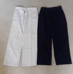 Lot of 2 Boys dress or casual pants size 14 Navy amp; Khaki Excellent condition $10.00