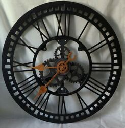 FirsTime amp; Co. Roman Gear Wall Clock Oil Rubbed Bronze 24quot; $40.00