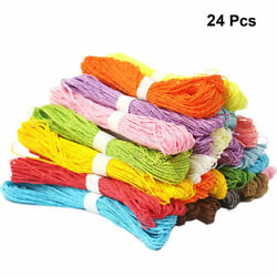 24PCS Braided Colorful Twisted Paper Rope Paper String for Gift Wrapping $16.31