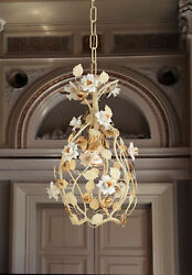 Chandelier Cream Gold With Porcelain 1 Light PRE139ING $289.00