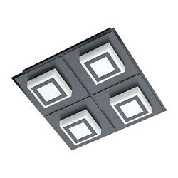 Ceiling To LED Modern Black Design Glo 99364 Masiano 1 $180.93