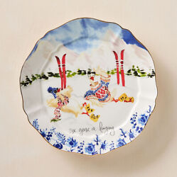 Anthropologie Inslee Fariss 12 Days of Christmas Plate 6 Six Geese A Laying $39.99