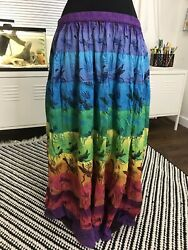 Phool Dragonfly Skirt Maxi Plus Size Womens 1X ref16 21 $16.00