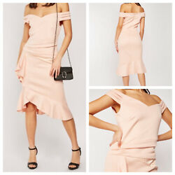 VENUS Ladies Pale Pink Dress Size 1X Stretchy Flounced Party Plus NEW NWOT 🌹 GBP 14.99