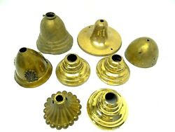 Antique Lot Old Victorian Brass Metal Dome Canopy Chandelier Lamp Lighting Parts $64.99