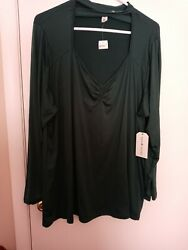Ladies junior plus size NWT green top by EYE CANDY size 2X $5.75
