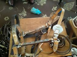 Used light oil horse size Show Halter leather halter