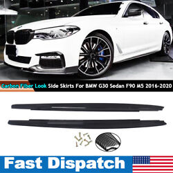 M Performance Side Skirts For 2017 2019 BMW G30 G31 F90 520 530 540 M Bumper $164.23