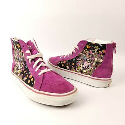 Vans Off The Wall Girls Unicorn Hightop Zip Back Shoes Size 4 Y $25.47