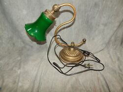 Heyco Brass Banker#x27;s Piano 1960s Classic Desk Lamp w S Curve Body Student $63.00