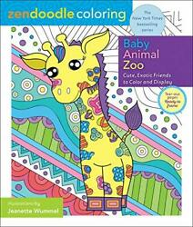 Zendoodle Coloring: Baby Zoo Animals: Cute Exotic Friends to Color and Displ… $10.95