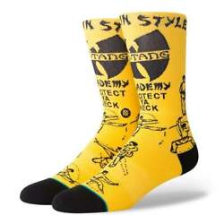 STANCE Wu Tang Clan Men#x27;s Socks quot;Protect Ya Neckquot; Size Large 9 12 Brand New $16.50