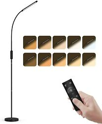 Dimmable LED Floor Lamp with RemoteTouch Control 5 Brightness Levels $39.90