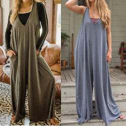 Knit Jumpsuit Chic Boho Wrap Dresses V Neck Casual Comfy Maxi for Girls Ladies $24.98