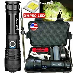 High Power 900000Lumens XHP50 Zoom Flashlight LED Rechargeable Torch Headlamp * $21.99